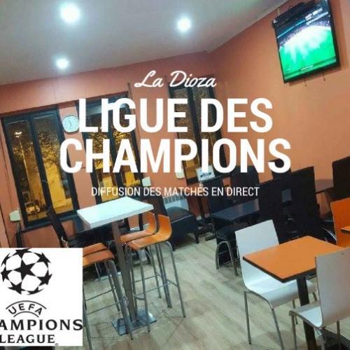 Ligue des Champions en direct dans votre Pizzeria la Dioza au centre ville de Roubaix.